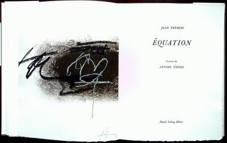 Livre Illustré Tàpies - Équation - Galerie Lelong