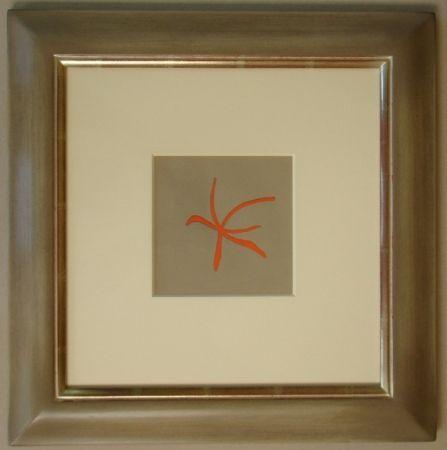 Lithographie Braque - Étoile de mer rouge, 1962