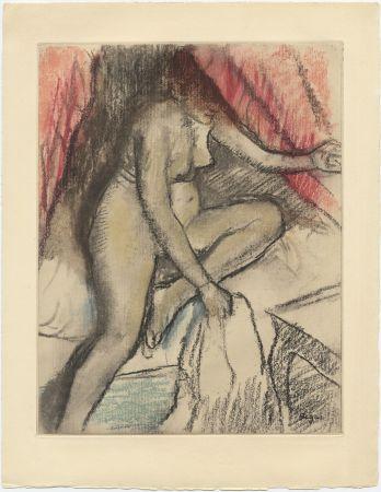 Eau-Forte Et Aquatinte Degas - Étude de nu (vers 1880)