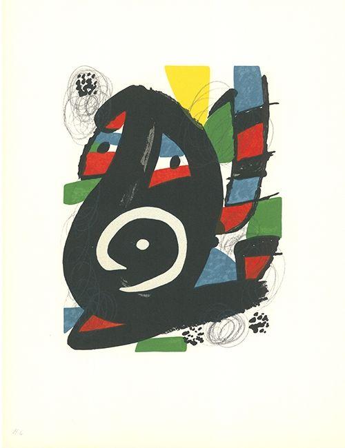 Lithographie Miró - - La mélodie acide - 14