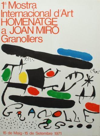 Lithographie Miró - 1ª Mostra Internacional d'Art Homenatge a Joan Miró Granollers
