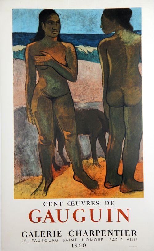 Lithographie Gauguin - 100 Oeuvres de Gaugin Galerie Charpentier