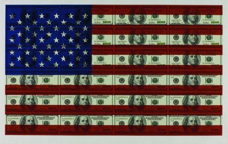 Sérigraphie Gagnon - $100 U.S. Flag