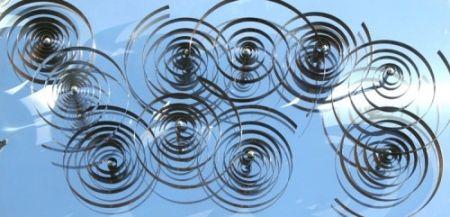 Gravure Sur Bois Asis - 10 spirales mobiles sur acier