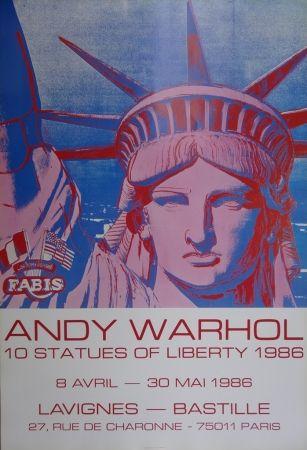 Affiche Warhol - 10 Statues of Liberty