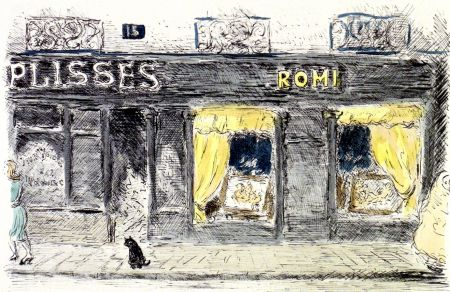 Lithographie Cascella - 15 Rue de Seine-Paris