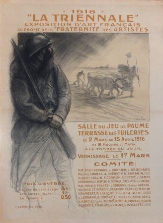 Lithographie Steinlen - 1916 La Triennale