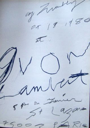 Affiche Twombly - 1980