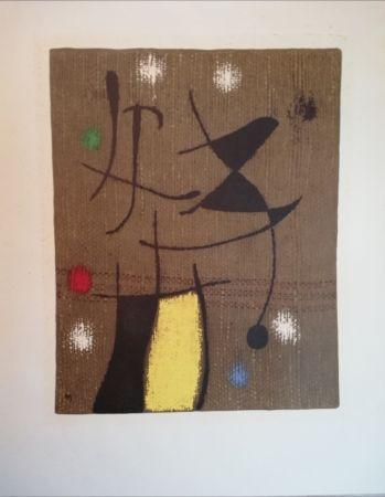 Lithographie Miró - 19 Femme et oiseau VI/X