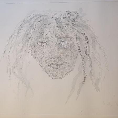 Gravure Smith - 1st State Self Portrait