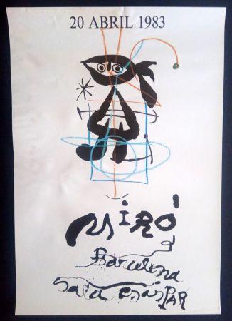 Affiche Miró - 20 Abril 1983 Sala Gaspar