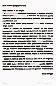 Lithographie Isgrò - 20 anni di edizioni