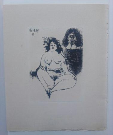 Aquatinte Picasso - 21 Jun 1968 II - La Celestina - La Célestine