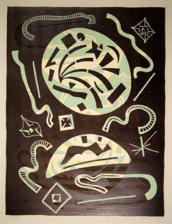Linogravure Nebel - 23/1969