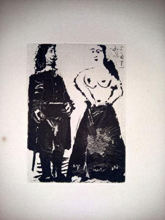 Aquatinte Picasso - 2 Junio 1968 I