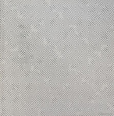 Sérigraphie Morellet - 2 trames de chevrons-positif