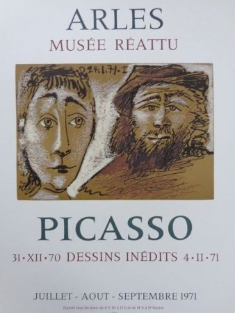 Affiche Picasso - 31-XII-70 DESSINS INEDITS 4-11-71
