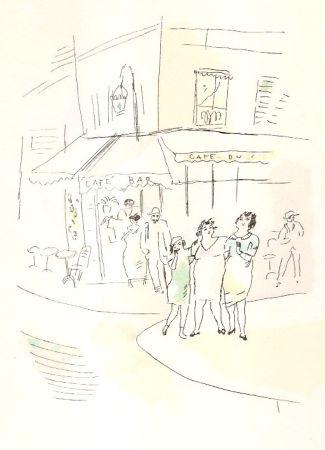 Livre Illustré Pascin - 3 petites filles dans la rue.  Dessins en couleurs de Pascin