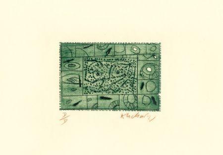 Eau-Forte Alechinsky - 3 petites plaques