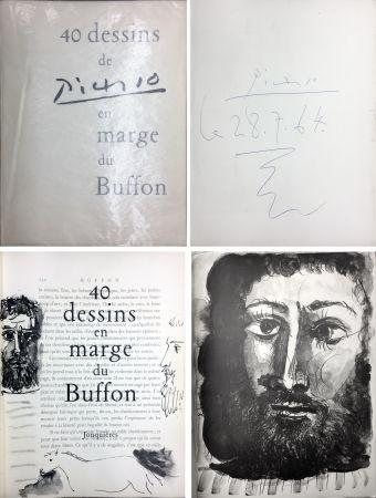 Livre Illustré Picasso - 40 DESSINS DE PICASSO EN MARGE DU BUFFON. Exemplaire signé et daté par Picasso