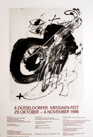 Lithographie Tàpies - 4. Düsseldorfer Messaien-Fest