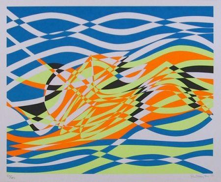 Sérigraphie Hayter - #4 from the Aquarius Suite