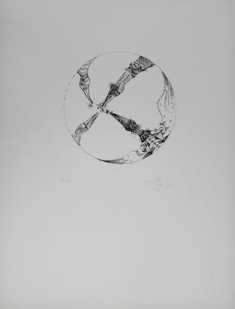 Lithographie Ponc - 4 pájaros (4 Birds)