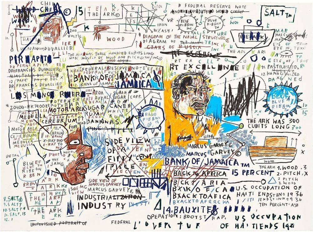 Sérigraphie Basquiat - 50 Cent Piece