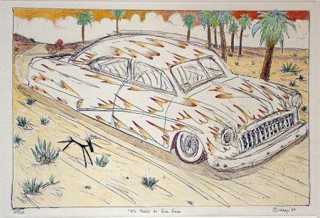 Gravure Lujan - 50 Ford de Ese Eme, Hand Painted