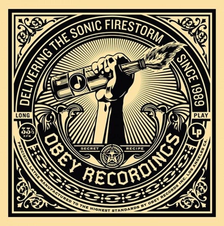 Sérigraphie Fairey - 50 Shades of Black Box Set: Sonic Firestorm