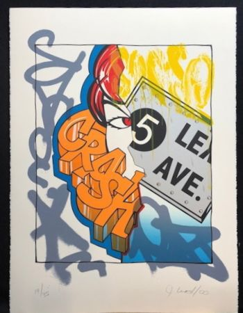 Lithographie Crash - 5 Lex