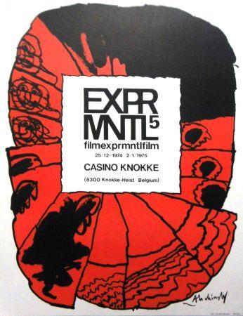 Lithographie Alechinsky - '' 5e Festival du Film Expérimental de Knokke ''