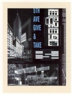 Lithographie Acconci - 5th Ave Give & Take