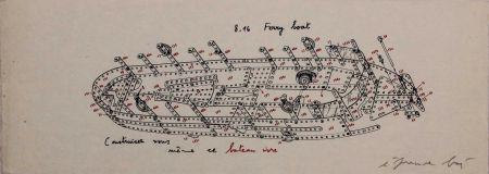Sérigraphie Baj - 8.16 Ferry Boat. Construisez-vous-même ce bateau ivre