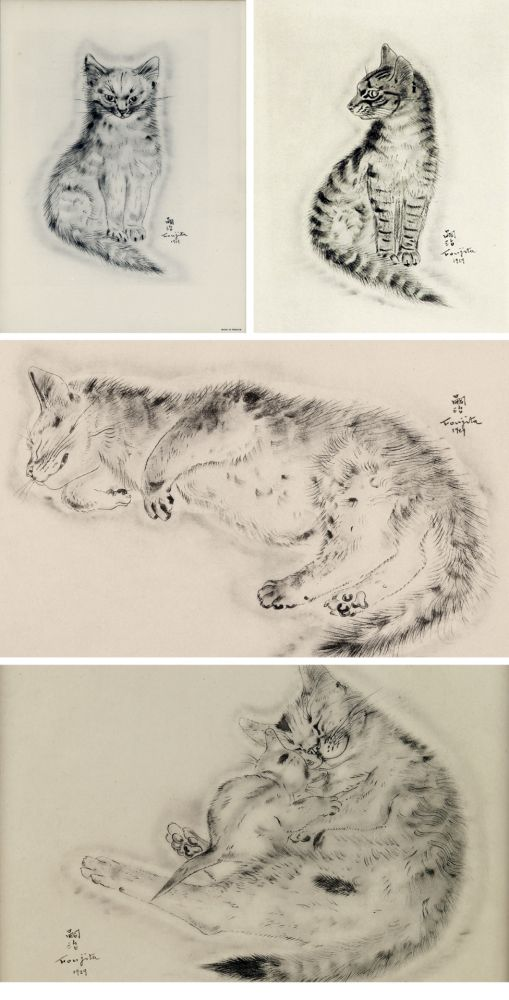 Livre Illustré Foujita - A BOOK OF CATS. being Twenty Drawings by Foujita. New York 1930