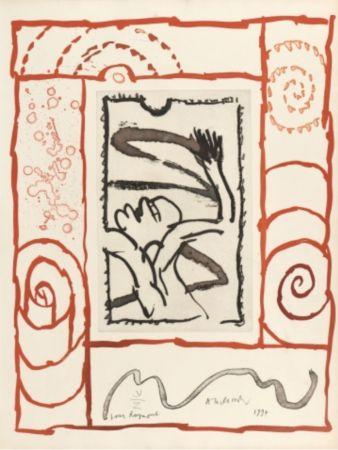 Lithographie Alechinsky - A bras de corps