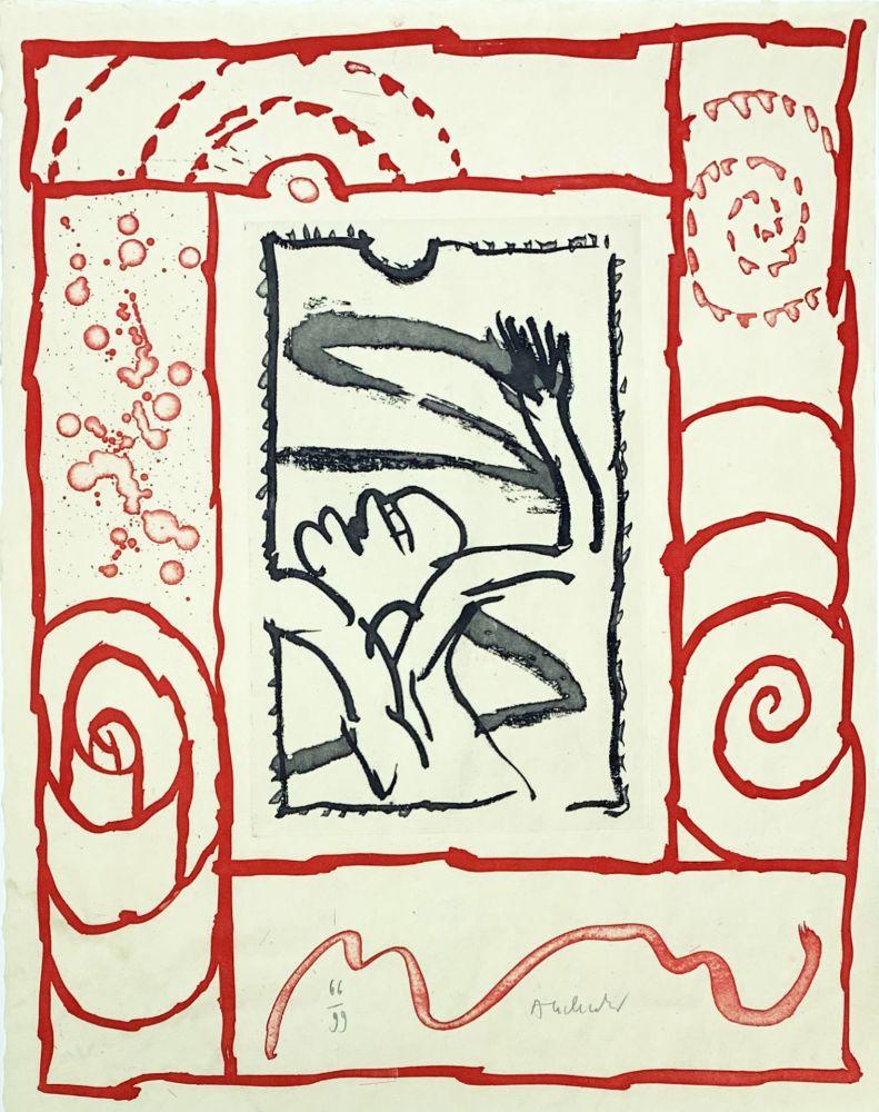 Gravure Alechinsky - A bras le corps