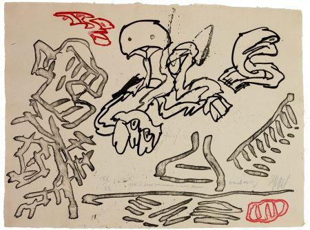 Aquatinte Alechinsky - A deux pinceaux