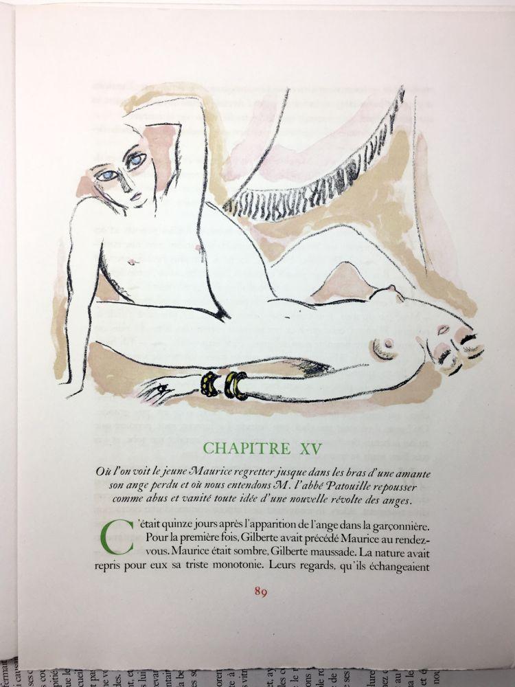 Livre Illustré Van Dongen - A. France : LA RÉVOLTE DES ANGES. 58 lithographies en couleurs (1951)