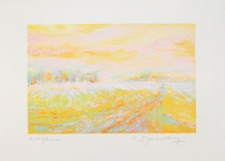 Lithographie Manoukian - A la campagne / In the Country