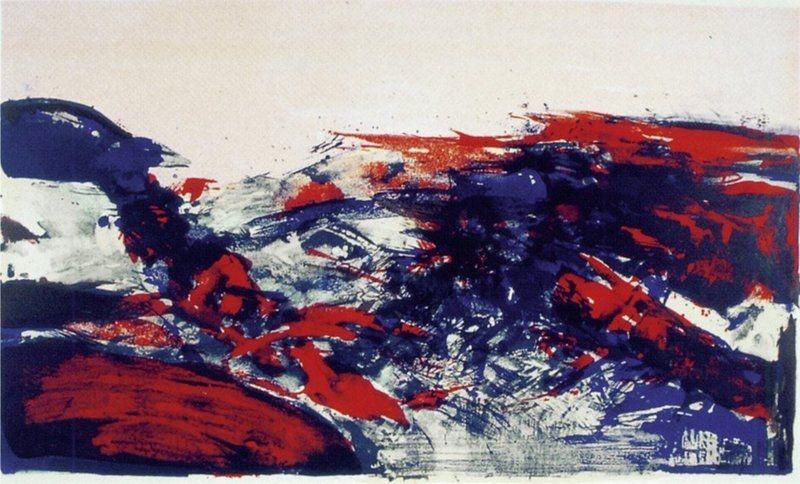 Lithographie Zao - A la Gloire de l'Image 274