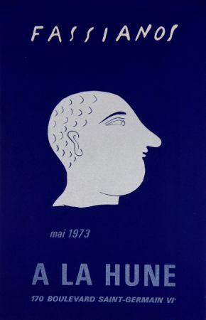Lithographie Fassianos - A La Hune