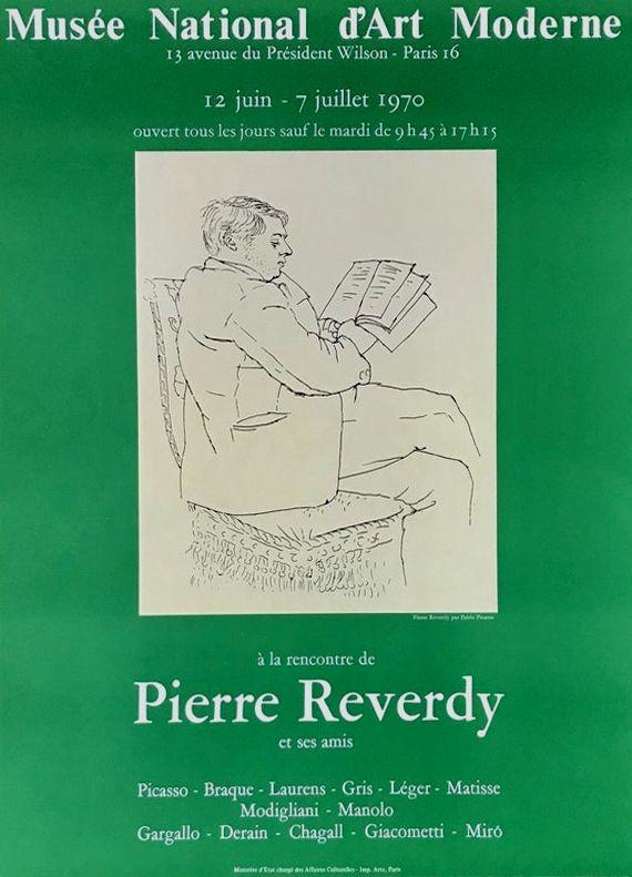 Lithographie Picasso - ''A la Recherde de Pierre Reverdy ''