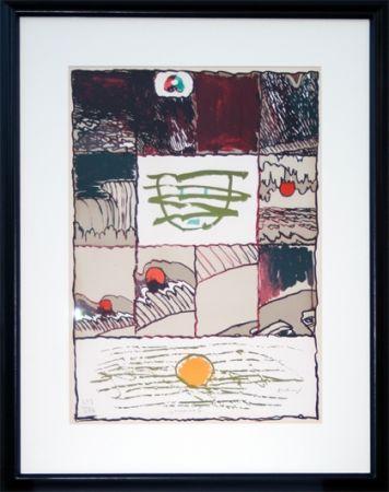 Lithographie Alechinsky - A l'imprimerie (1967)