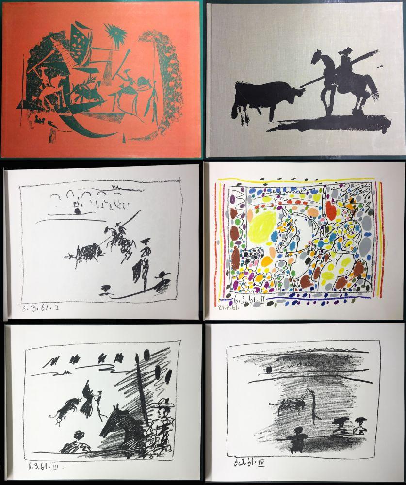 Livre Illustré Picasso - A LOS TOROS avec Picasso. 4 lithographies originales (1961)