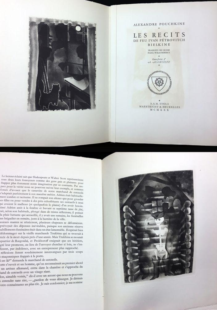 Livre Illustré Alexeïeff - A. Pouchkine : Les Récits de feu Ivan Pétrovitch Bielkine (1930)