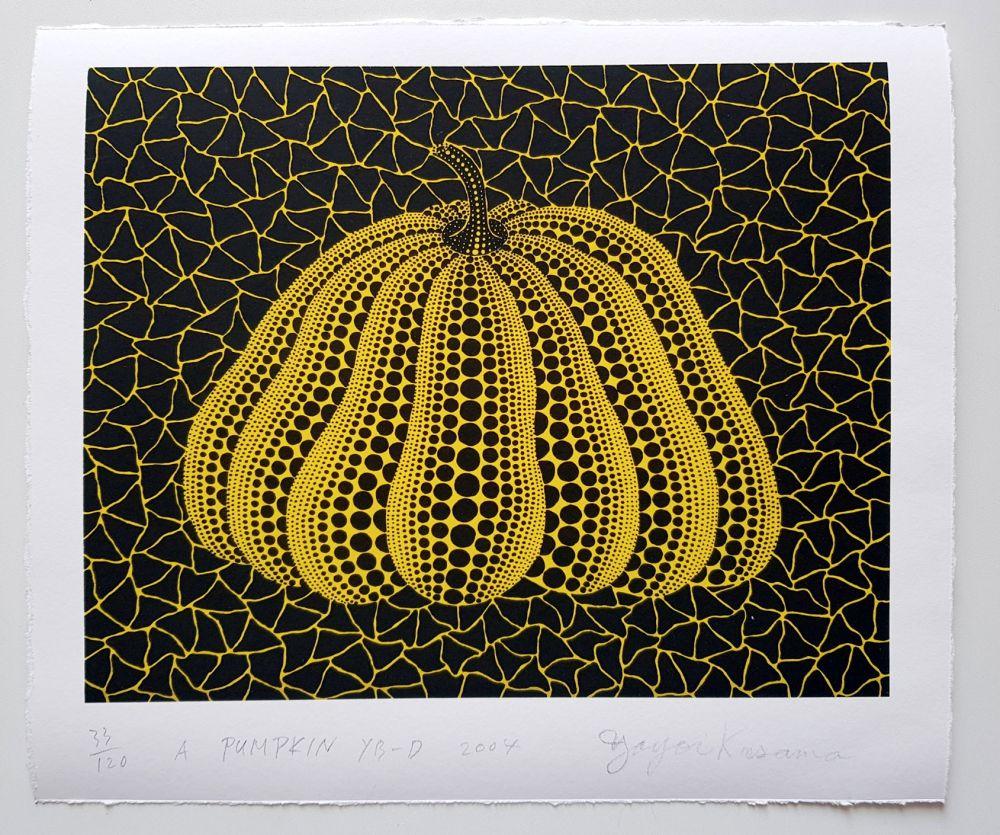 Sérigraphie Kusama - A Pumpkin YB-D