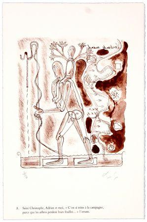 Lithographie Nørgaard - A. Saint Christophe, Adrian et moi,