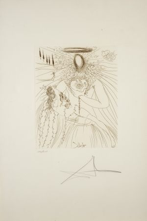 Gravure Dali - A toute âme éprise