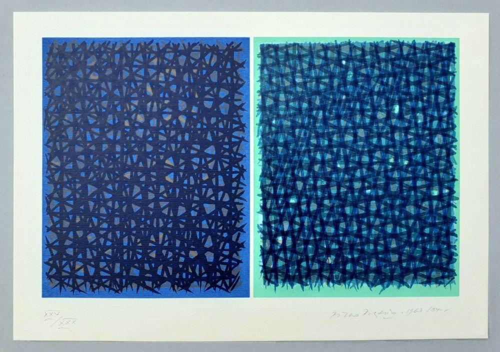 Sérigraphie Dorazio - A verde B blu